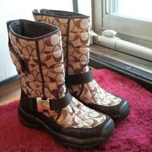 Coach Other - ❤💖💙💚COACH LEATHERWARE BOOTS size 5❤💖💙💚
